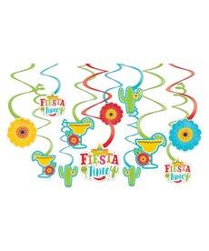 Foil Swirl Decorations - Fiesta 12ct