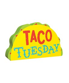 """Mini Standing Sign: """"Taco Tuesday"""""""