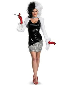 Disguise Costumes Women's Deluxe Cruella De Vil Costume
