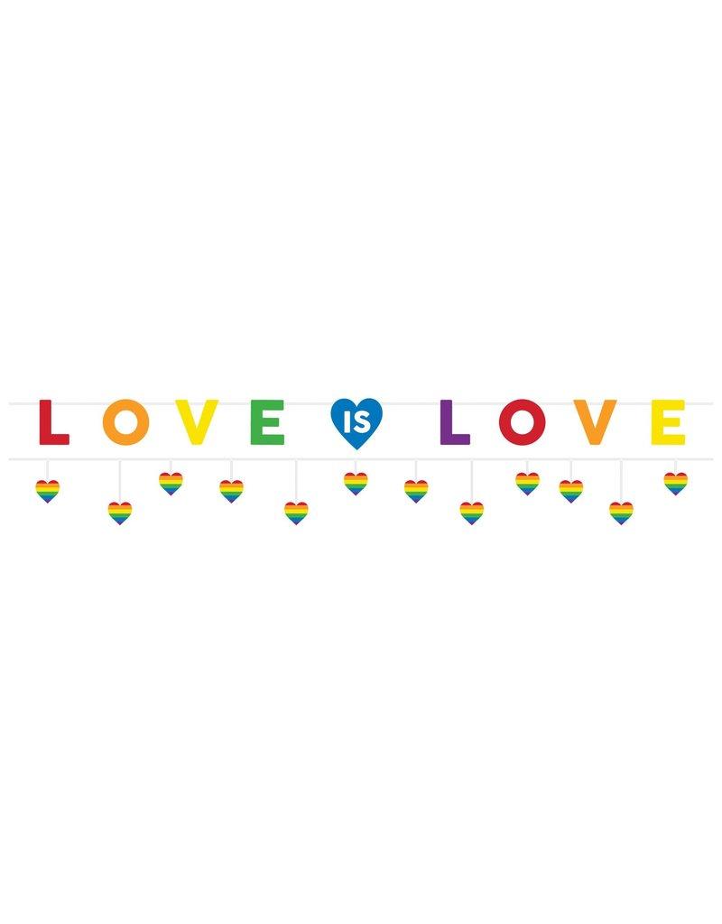 "Amscan ""Love is Love"" Pride Letter Banner (2 Pack)"