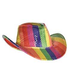 Amscan Sequin Rainbow Cowboy Hat