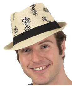 Toyo Fedora Hat with Pineapples
