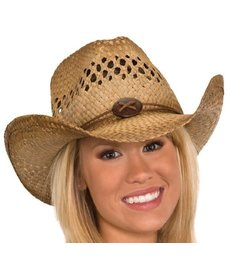 Vented Seagrass Western Cowboy Hat