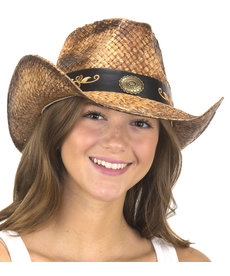 Western Cowboy Hat with Embd. on Band
