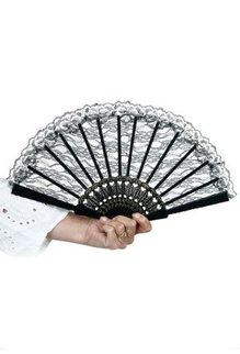 Lace Fan: Black