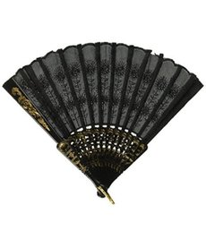 Chinese Lace Fan wtih Gold Trim