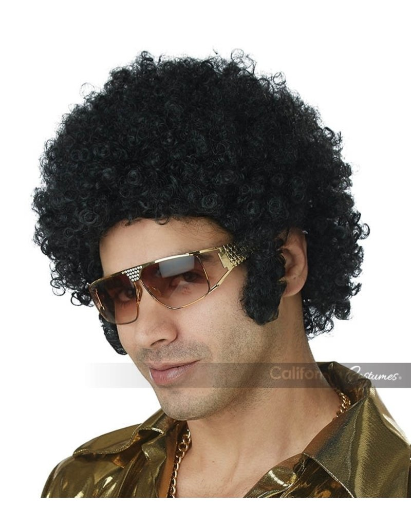California Costumes Afro Chops Wig: Black