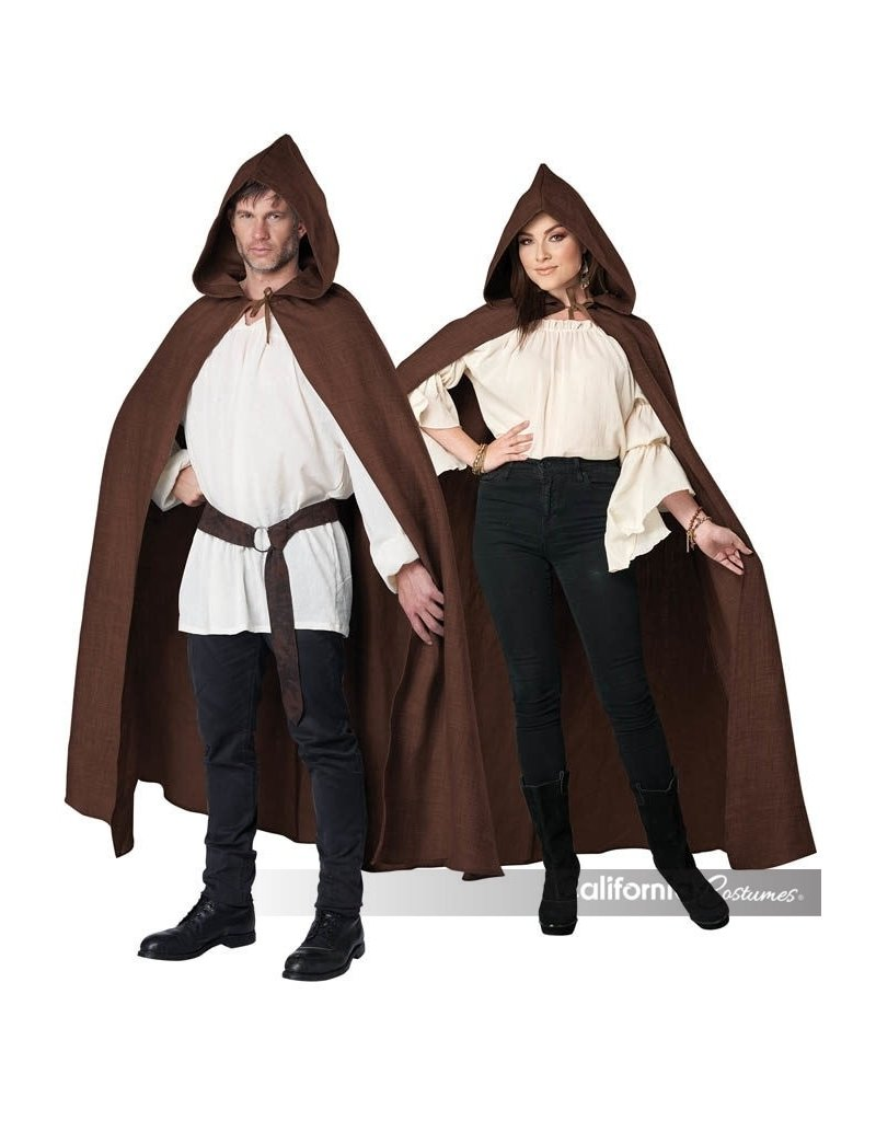 California Costumes Adult Hooded Cloak: Brown - O/S