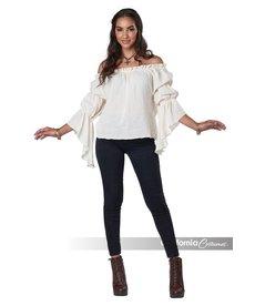 California Costumes Women's Renaissance Peasant Blouse: Cream