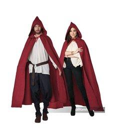 California Costumes Adult Hooded Cloak: Burgundy