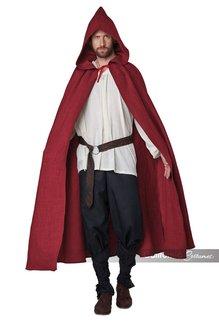 California Costumes Adult Hooded Cloak: Burgundy - O/S