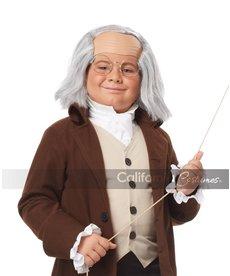 California Costumes Kids Benjamin Franklin Wig with Bald Cap