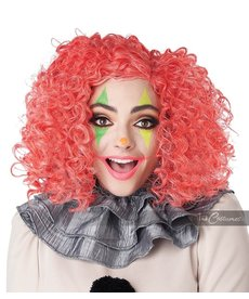 California Costumes Bright Red Curly Clown Wig (Glow In The Dark)