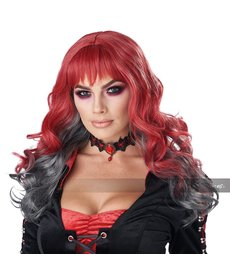 California Costumes Women's Deadly Desire Wig Red/Grey