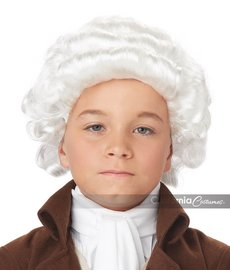 California Costumes Colonial Man Wig: Child - White