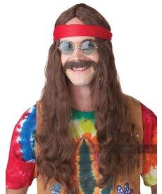 California Costumes Hippie Man Wig: Brown