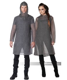 California Costumes Unisex Metallic Knit Chainmail Tunic & Cowl
