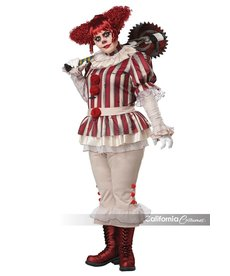 California Costumes Women's Plus Size Sadistic Clown