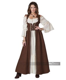 California Costumes Women's Brown Medieval Overdress