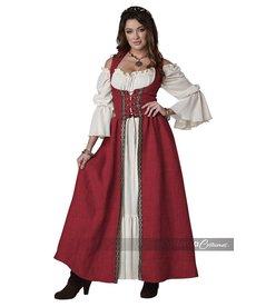 California Costumes Women's Burgundy Medieval Overdress