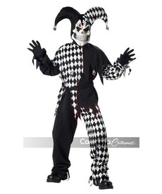 California Costumes Boy's Evil Jester: Black/White
