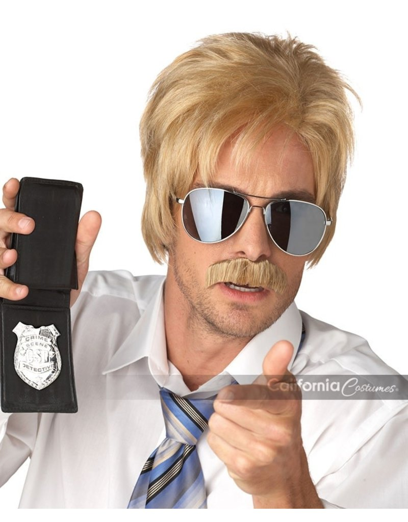 California Costumes Ace Detective Wig and Moustache