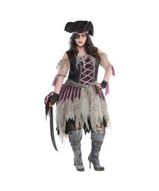 Amscan Women's Plus Size Haunted Pirate Wench Costume - XXL (18-20)