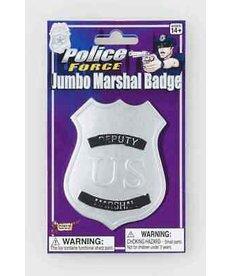 Jumbo Marshall Badge: Silver