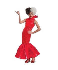 Disguise Costumes Girl's Deluxe Cruella Live Action Red Dress Costume