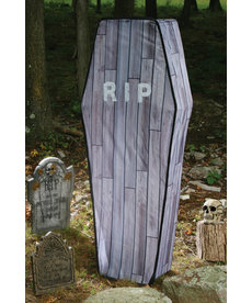 5' Collapsible Coffin with Wood Finish