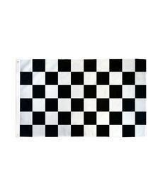 Waterproof Flag (3x5Ft) - Race Black & White Checkered