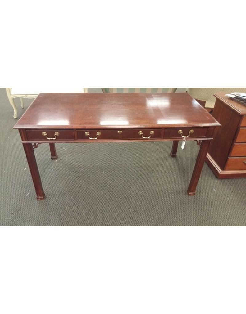 Office desk wood 3 drawers long width no back
