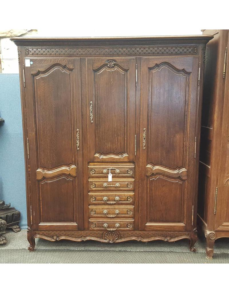 Armoire Dark Wood 5 Drawe 3 Cabinet