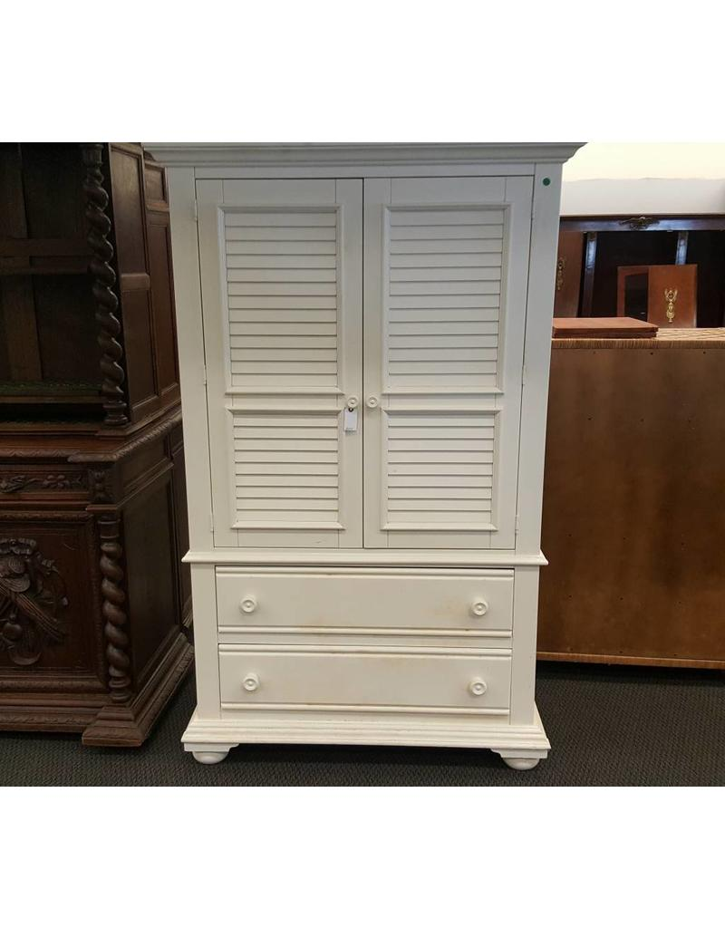 Tv Cabinet White Wood 2 Drawers