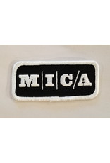 MICA Black & White Iron-On Patch