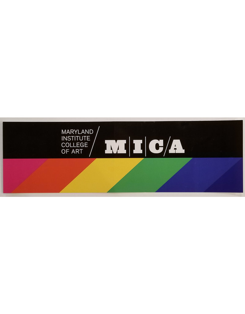 MICA Rainbow & Black Bumper Sticker