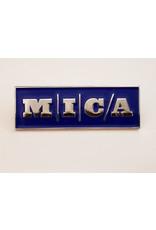 """MICA Enamel & Metal Pin 1.5"""" X .5"""""""