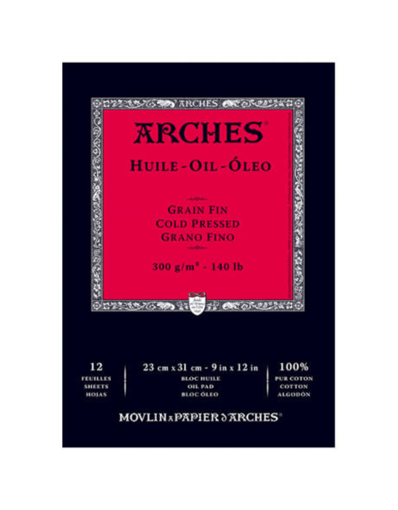Arches Arches Oil Paper Pads, 12'' X 16'' 12 Shts./Pad