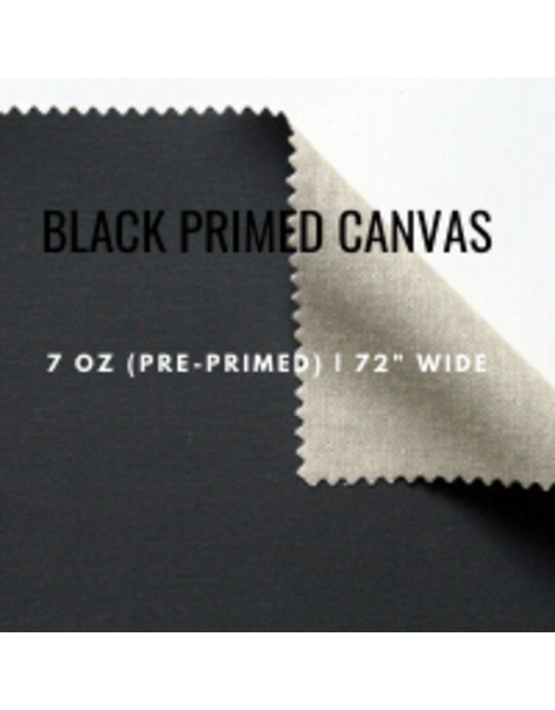 C.R. Daniels Primed Canvas 58'' Black By The Foot