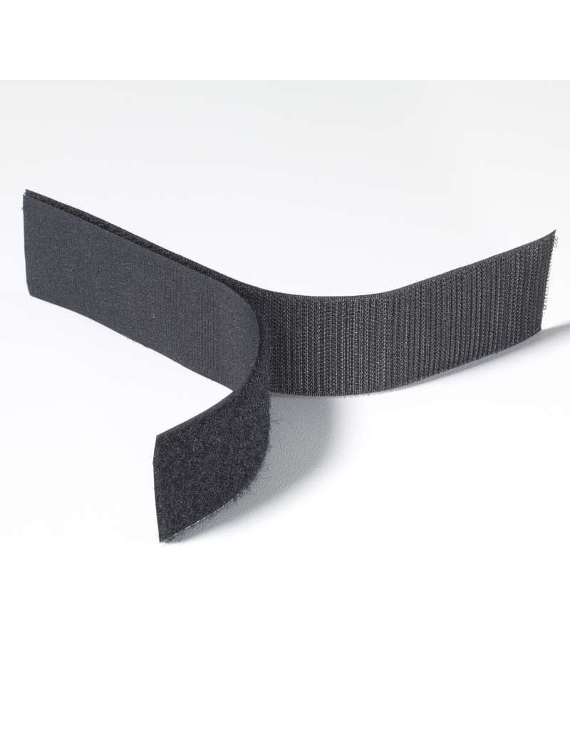 """Uline Velcro 1"""" Black Adhesive Backed By The Foot"""