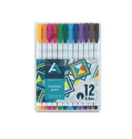 Art Alternatives Fineline Pen Sets, 12-Color Set