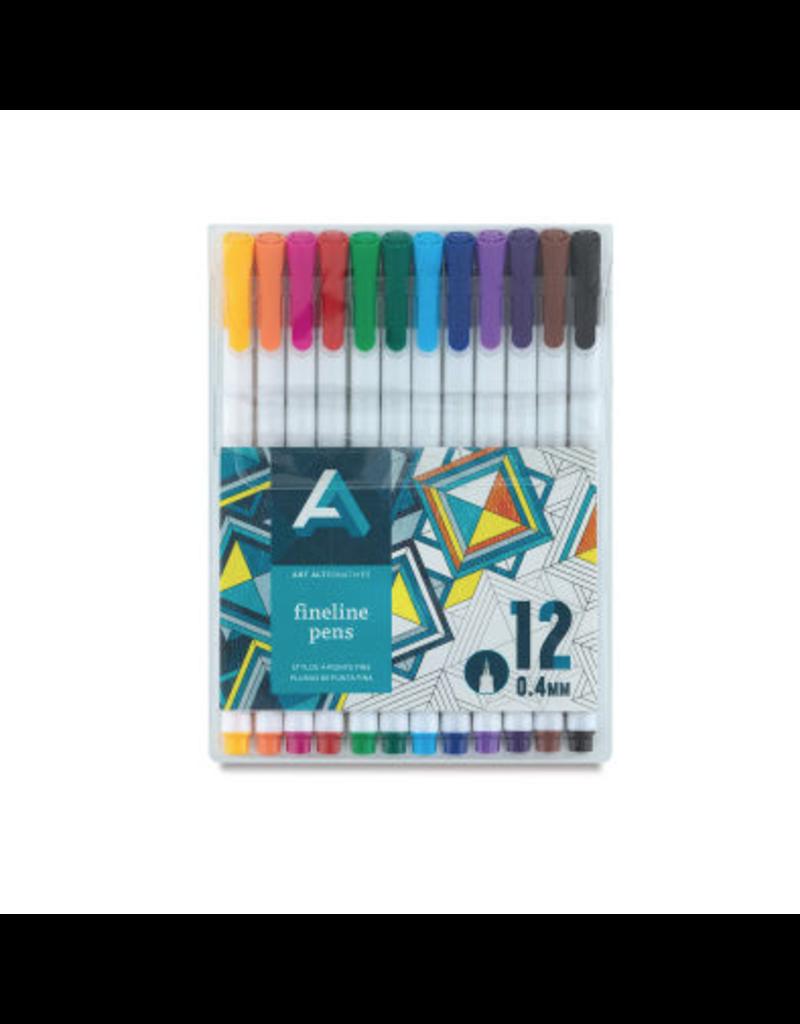 Art Alternatives Fineline Pen Sets, 12-Color Set