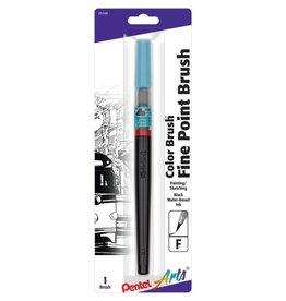 Pentel Color Brush Pens, Black Fine Water-Based Ink