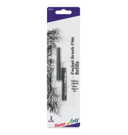 Pentel Pocket Brush Refill 2/Cd