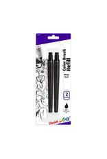 Pentel Color Brush Refill Ink Cartridges, Black Water-Based, 2/Pkg