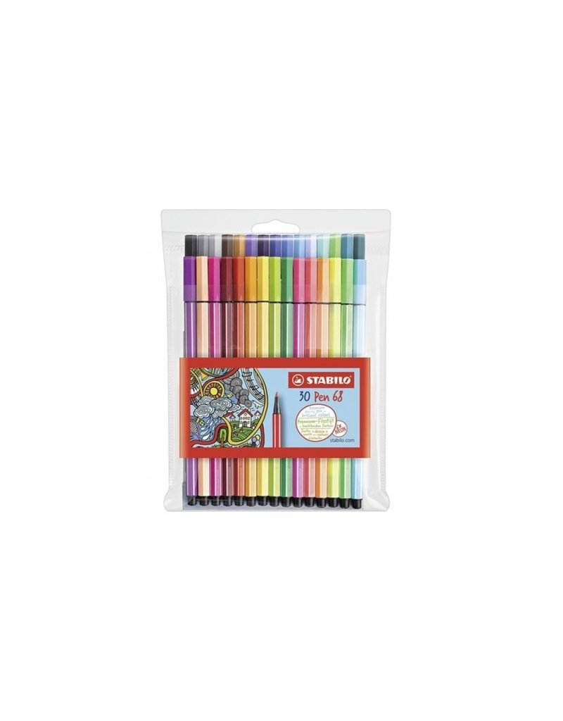 Stabilo Pen 68 Marker Wallet Sets, 30-Color Wallet Set