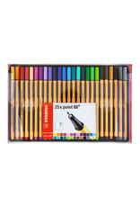 Stabilo Point 88 Pen Sets, 25-Color Wallet Set