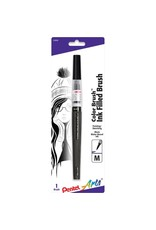 Pentel Clr Brush Pen Blk Crd