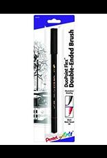 Pentel Duopoint Brsh Ultrafine Blk Cd