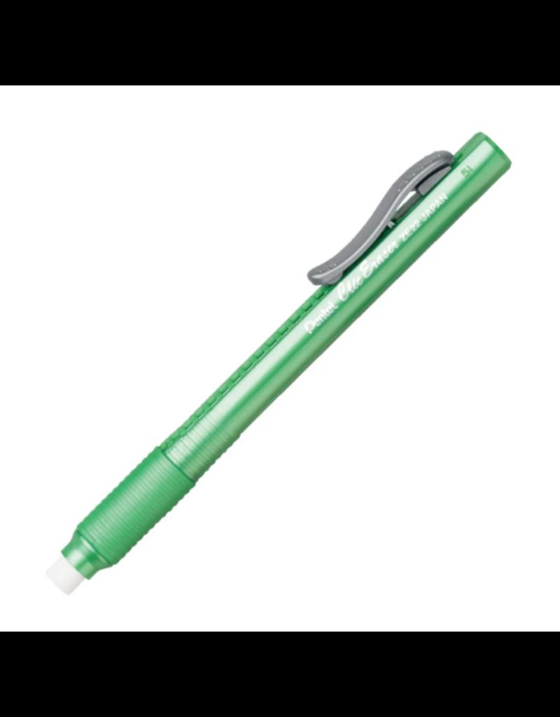 Pentel Eraser Clic/Grip Light Green Barrel